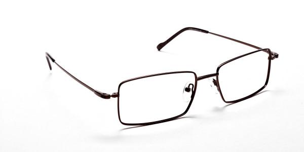 Titanium Glasses in Brown, Eyeglasses - 2