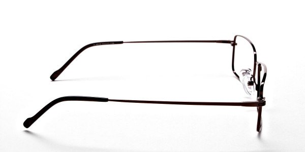 Titanium Glasses in Brown, Eyeglasses - 4