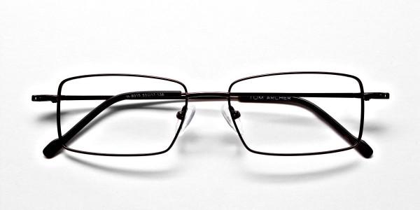 Titanium Glasses in Brown, Eyeglasses - 6