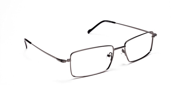 Titanium Glasses in Gunmetal, Eyeglasses - 2
