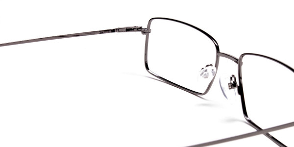 Titanium Glasses in Gunmetal, Eyeglasses - 5