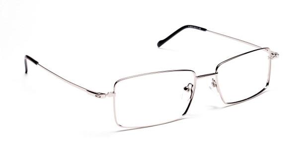 Titanium Glasses in Silver, Eyeglasses - 2