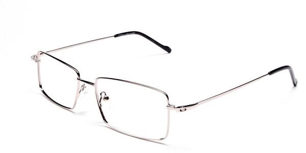 Titanium Glasses in Silver, Eyeglasses - 3