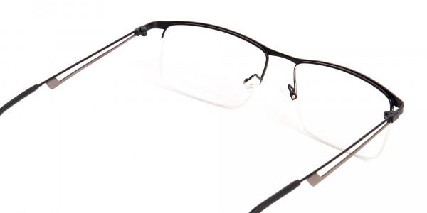 black and rectangular half-rim titanium glasses frames-5