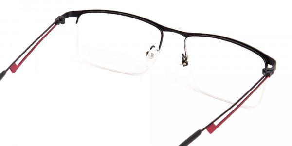 black and red half-rim rectangular glasses frames-5