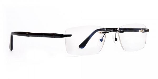black-rectangular-rimless-titan-glasses-frames-2