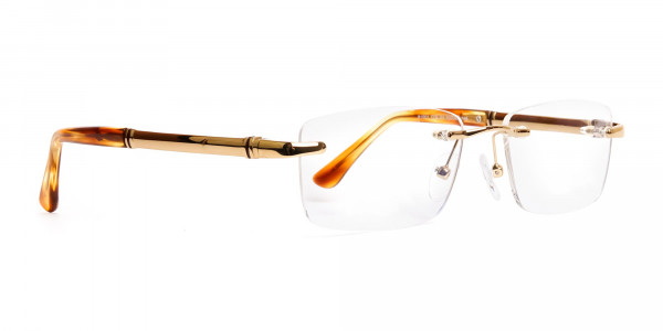 champagne-gold-rectangular-rimless-titanium-glasses-frames-2