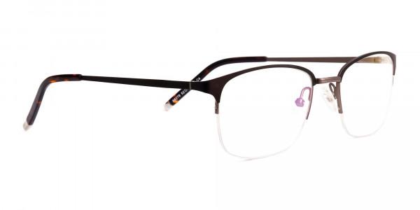 matte-brown-half-rim-rectangular-glasses-frames-2