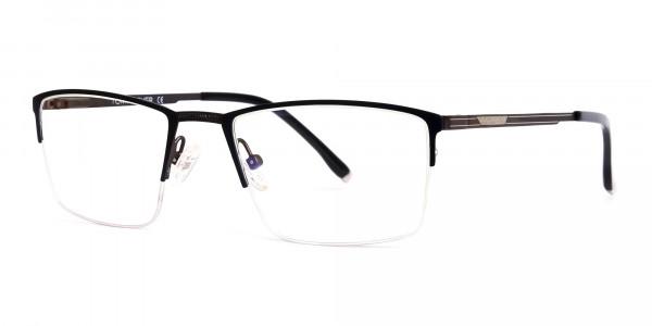 navy blue half-rim rectangular glasses frames-3