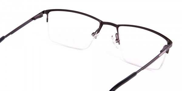 navy blue half-rim rectangular glasses frames-5