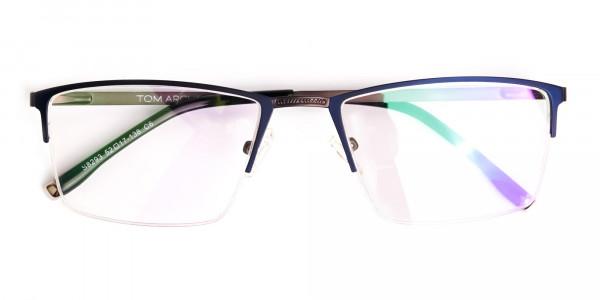 navy blue half-rim rectangular glasses frames-6
