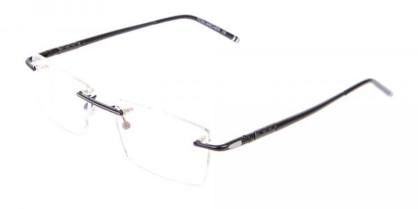 Latest Black Rimless Rectangular Glasses UK -3