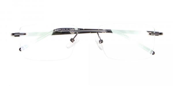 Latest Black Rimless Rectangular Glasses UK -6
