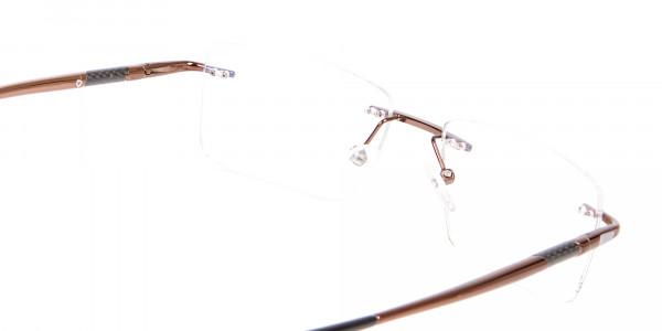 Glossy Brown Metal Rimless Online UK-5