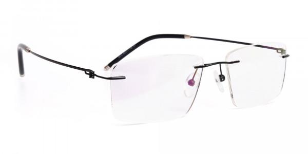 designer-black-rectangular-rim-less-glasses-frames-2