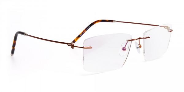 brown-rectangular-rimless-titanium-glasses-frames-2