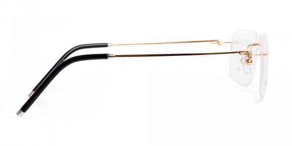 gold-rectangular-rimless-titanium-glasses-frames-4