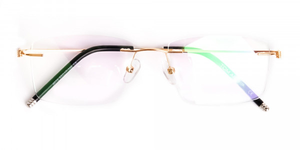 gold-rectangular-rimless-titanium-glasses-frames-6