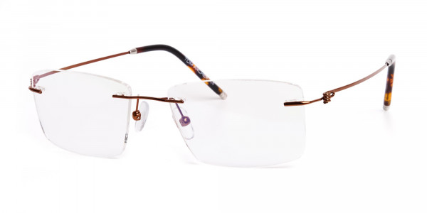 brown-rectangular-rimless-titanium-glasses-frames-3