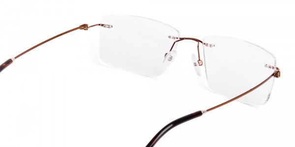 brown-rectangular-rimless-titanium-glasses-frames-5