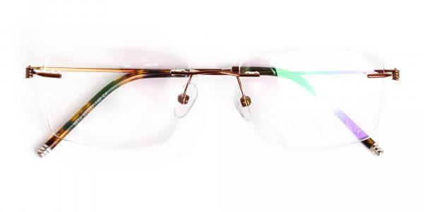 brown-rectangular-rimless-titanium-glasses-frames-6