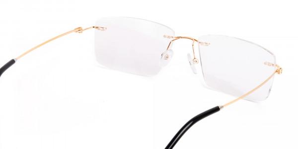 gold-rectangular-rimless-titanium-glasses-frames-5