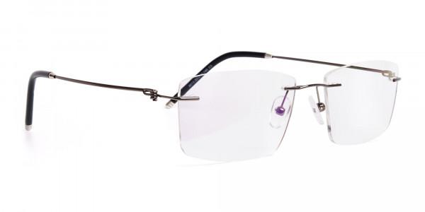 gunmetal-rectangular-rimless-titanium-glasses-frames-2