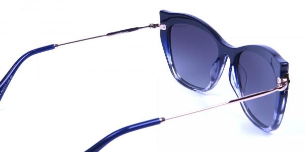 Embellished Blue Sunglasses Cat Eye-4