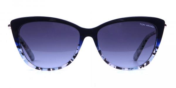 Blue Grey Marbled Cat Eye