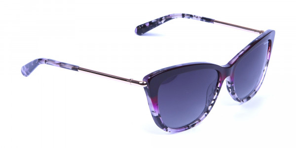 Drops of Wine Purple Cat Eye Sunglasses -1