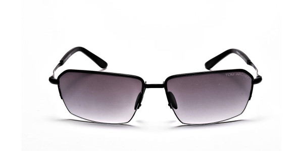 Black Half Rimmed Sunglasses