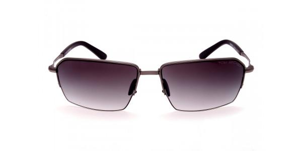 Cool Gunmetal Sunglasses in Half Rimmed Design