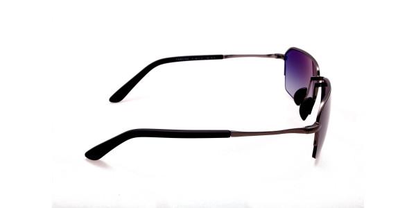 Cool Gunmetal Sunglasses in Half Rimmed Design - 3