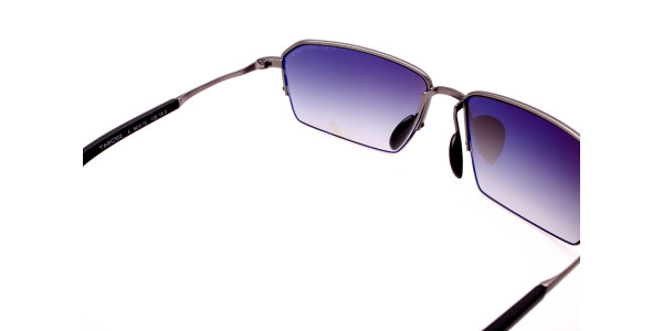 Cool Gunmetal Sunglasses in Half Rimmed Design - 4