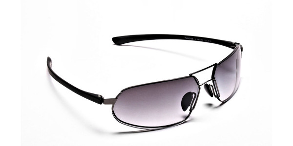 Wide Fit Sunglasses in Gunmetal - 1
