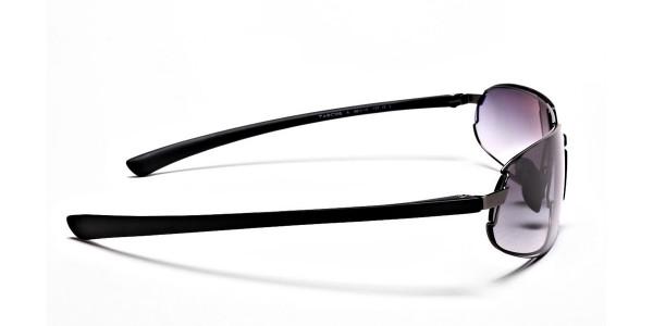 Wide Fit Sunglasses in Gunmetal - 3
