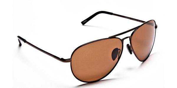 Smart Trendy Brown Sunglasses  - 1