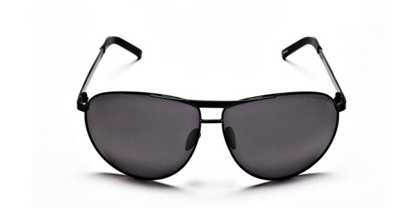 Luxurious Aviator Sunglasses in Black