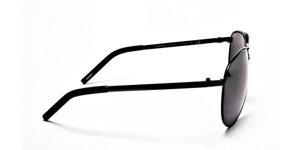 Luxurious Aviator Sunglasses in Black - 3