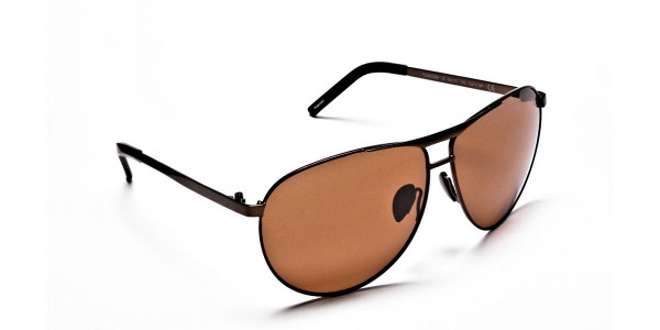 Brown Big Lenses Sunglasses - 1