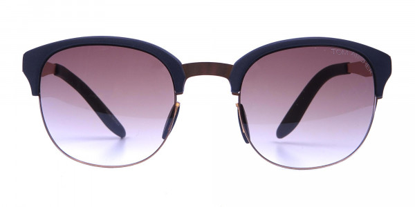 Gold Frame Sunglasses with Black Accents