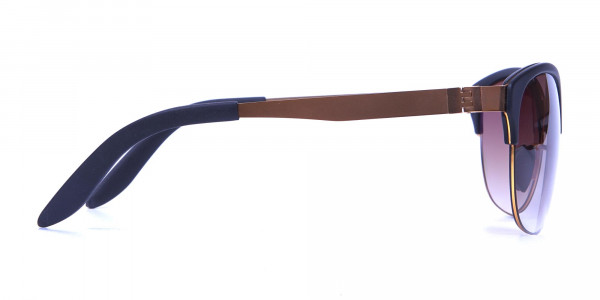 Gold Frame Sunglasses with Black Accents -3