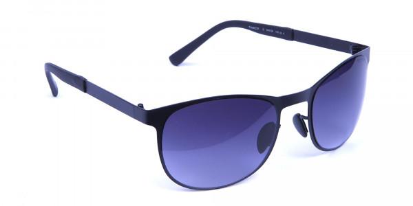 Black Round Metal Sunglasses -1