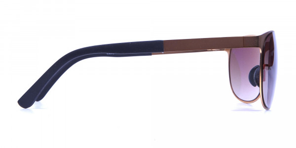 Gold Circular Sunglasses -3