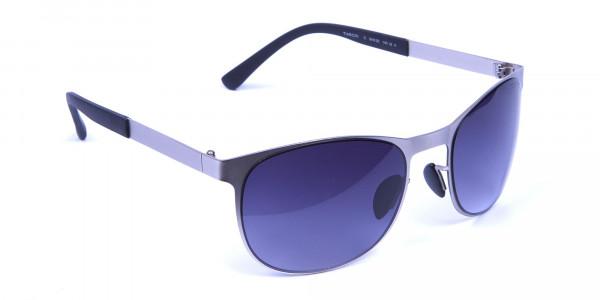 Silver Framed Sunglasses -1
