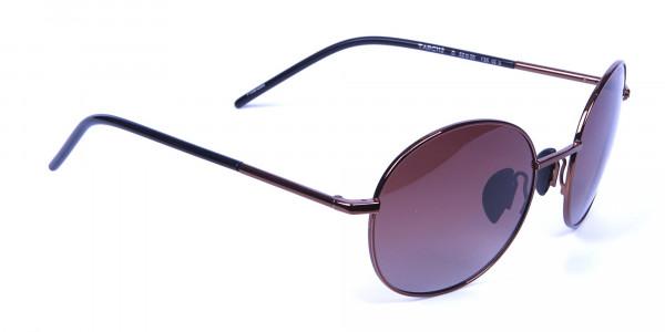 Brown frame sunglasses -1