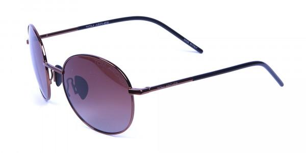 Brown frame sunglasses -2