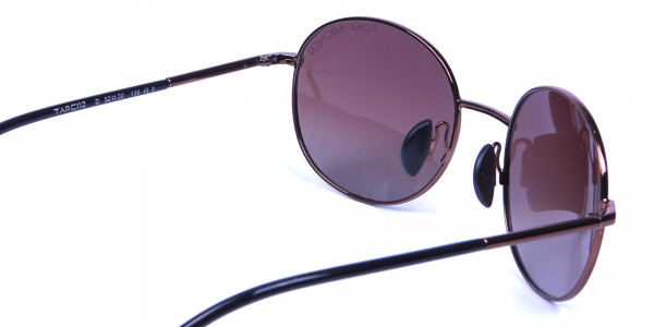 Brown Round Designer Sunglasses -4