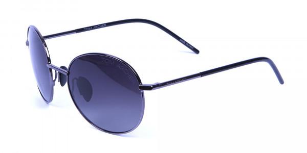 Gunmetal Sunglasses for Narrow Faces -2