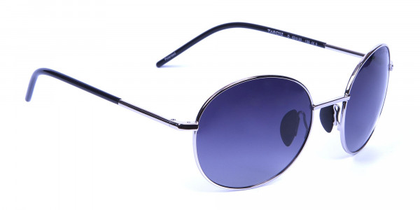 Silver Sunglasses Round Frames -1